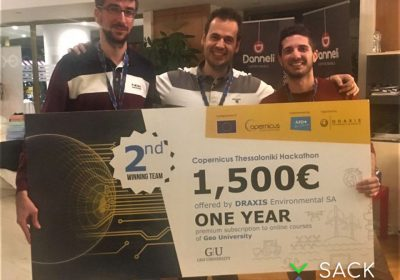 Second place for the CERTH team in the Copernicus Thessaloniki Hackathon