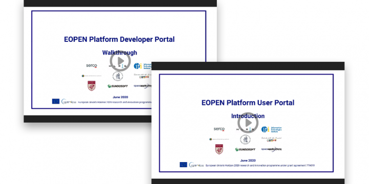 New videos presenting the EOPEN platform